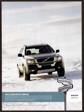 2004 VOLVO XC90 Original Print AD - AWD gray car winter snow photo Canada French