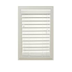 HDC White 2-1/2 in. Premium Faux Wood CORDED Blind - 47 in. W x 48 in. L