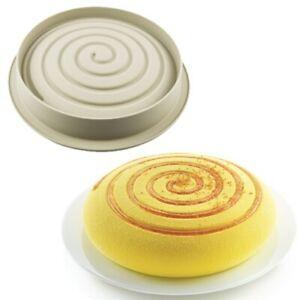 Silikomart Molde GIROTONDO 3D para Pasteles Silicona Tartas Mousse Horno Design