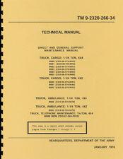 TM9 2320 266 34 ~ Dodge M880 ~ Direct & General Support Maint Manual ~ Reprnt