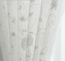 Embroidered Tulle Curtains For Living Room Bedroom Linen Fabric Home Textile New