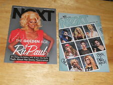 LOT of 2  NeXT Magazine: ONE RuPaul On Cover/Feat, ONE Drag Race Queens 2016 Gay