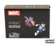 Marvel Minimates SDCC Exclusive Punisher & Battle Damaged Captain America