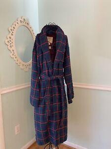 Vintage Victoria's Secret Country Cottons Robe Flannel Plaid Size M/L. NWT