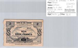 Northern Avesnes & Solesmes Sains-Du-Nord 2 Francs 30.7.1916 N°663 Pirot 59.208