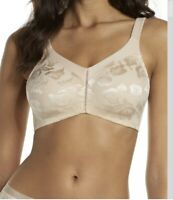 New Marlon non wired embroidered soft cup bra WHITE Cross Heart 211BR