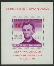 Rwanda 98 MNH Abraham Lincoln