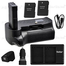 Battery Grip for Nikon D3200 D3300 + 2x EN-EL14a Battery +AC/DC Dual Charger