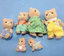 Calico Critters Sylvanian  Bear Family 1985 Set Rare 6 Epoch has Twin Babies