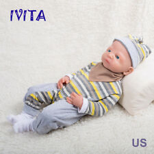 "IVITA 21"" Full Body Soft Silicone Reborn Doll Girl Big Eyes Lifelike Baby"