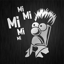 MiMiMi Mi Mi Mi Mr Beaker Comedy Spaß Silber Auto Vinyl Decal Sticker Aufkleber