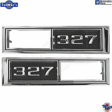 "68-69 for Chevrolet ""327"" Front Fender Side Marker Light Bezel Chrome Trim PAIR"