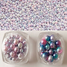 1Pc Gradient Pearl Beauty Nail Art Decorations 3D Nail Stickers Manicure DIY Tip