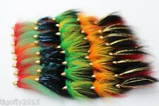 40 Pcs Assorted Popular Cone Heads Tube Flies Salmon Fly Trout Fly Fishing Lure