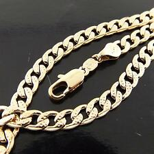 Rose Gold Bracelet Bangle 18k G/F Solid Ladies Antique Curb Cuban Link Design
