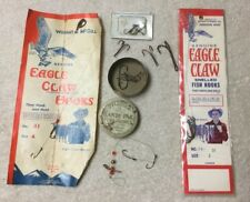 Vintage Wright & McGill Eagle Claw And Other Fishing Hooks