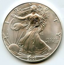 2001 American Eagle Fine Silver Dollar - 1 oz bullion Coin - United States AN750