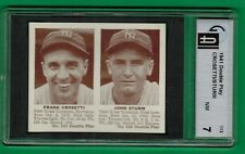 1941 DOUBLE PLAY FRANK CROSETTI JOHN STURM GAI 7 NEAR MINT NM YANKEES