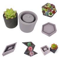 Flower Pot Silicone Molds DIY Garden Planter Cement Concrete Vase Soap Moulds