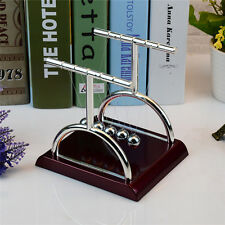 Newtons T-type Cradle Steel Balance Ball Fun Decoration Physics Science Toy Gift