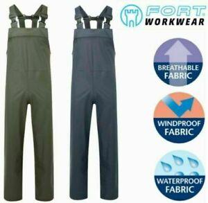 FORT, AIR-FLEX Waterproof Windproof BREATHABLE Bib N Brace Dungaree Overalls