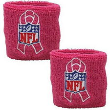 NEW Pink Ribbon Wrist Band OFFICIAL NFL Breast Cancer Awareness package of 2