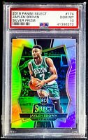 2016-17 Panini Select JAYLEN BROWN RC * SILVER Prizm PREMIER Level * SP PSA 10