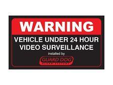 Warning vehicle under 24 hour video surveillance (Bumper Sticker)