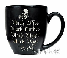 Goth : Alchemy MUG Tasse Gravé NOIR Mat Black Coffee Clothes Magic Rose Gothique