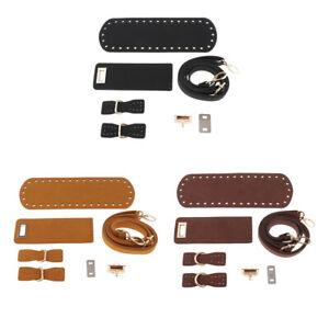 DIY Leather Crochet Bag Bottom Base Twist Lock for Shoulder Bag Making