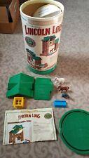 Lincoln Log Logs Sunnyfield Horse Stable Building Set Complete 86 Pcs Original