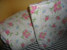 POTTERY BARN KIDS PINK ROSES GREEN VINES BLUE BELLS YELLOW (2PC) FULL SHEET SET
