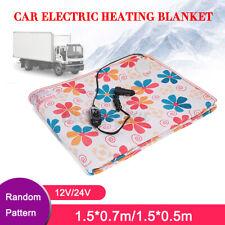 12V/24V Electric Car Blanket Heated Travel Throw Cosy Warm Winter Pattern Random