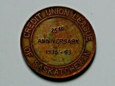 SK CANADA 1938-1963 25-Year Medal for Credit Union League of Saskatchewan (Bank)