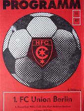 Programm 1987/88 HFC Chemie - Union Berlin