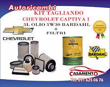 KIT TAGLIANDO 4 FILTRI + 5L OLIO BARDAHL 5W30 CHEVROLET CAPTIVA I 2.0 CDTI