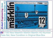 EE 7195 NEW Marklin HO Number Plate Set 12 Metal Stands w Blue Box OBX