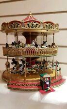 Mr. Christmas Nottingham Fair Double Decker Holiday Music Light Up Carousel