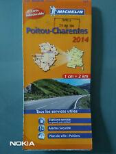 CARTE MICHELIN N°521 POITOU CHARENTE - Ed.2014 TB ETAT - INDECHIRABLE