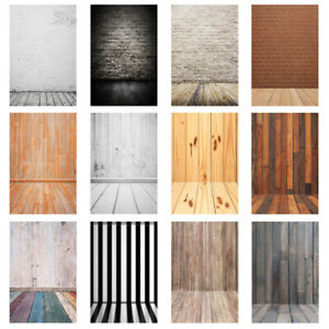 Photo Background Vintage Brick Wood Wall Floor Photography Backdrops Cloth 5x7ft