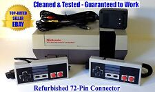 NES Console (BEST PINS) + 2 Controllers, AC Adaptor & AV Cables - Guaranteed