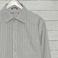 Nigel Cabourn Utility Shirt Long Sleeve Striped Size M Cotton