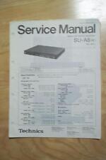 Technics Service Manual for the SU-A8 Amplifier Amp