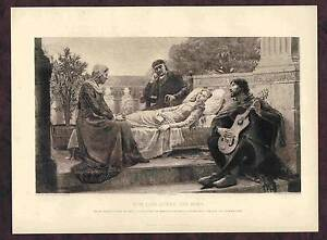 How Lisa Loved the King -Masse after Leighton 1895 Art Etching