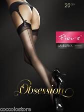 Fiore Collant Obsession Stocking Marlena 20 denari Giarrettiera seconda Nero