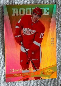 2012/13 Panini Certified Riley Sheahan Gold Rookie Card #10/10 Detroit Red Wings
