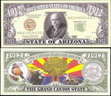 State Of Arizona Quarter Novelty Bill - Lot of 10 Bills