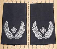 Schulterklappen Rangabzeichen Luftwaffe Major blau weiß getragen ##1109