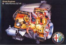 Alfa Romeo SZ ES30 V6 Motor mercado del Reino Unido Folleto de ventas