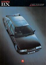 Citroen BX 16 Meteor Limited Edition 1990 UK Market Sales Brochure